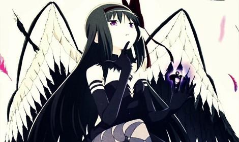 Bộ hình cosplay quạ đen dễ thương