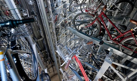 Khám phá bãi giữ xe đạp ngầm độc đáo ở Nhật Bản