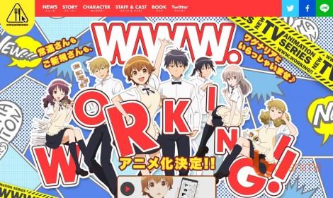 Working!! Web-ban được chuyển thể thành anime