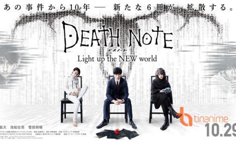 Teaser thứ 2 live-action Death Note giới thiệu dàn nhân vật