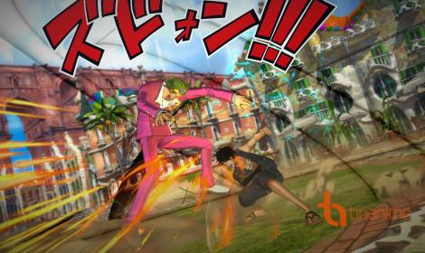 Cuộc đối đầu của Luffy và Gild Tesoro trong One Piece: Burning Blood
