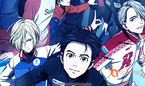 Dàn nhân vật trong trailer mới của anime Yuri!!! on ice