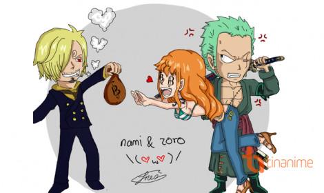Chùm ảnh vui One Piece: Khi Zoro dành lấy Nami từ tay Sanji!