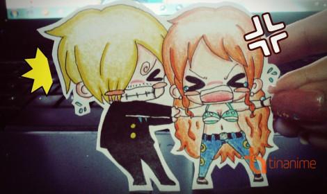 Bộ tranh giấy nghệ thuật One Piece siêu hài!