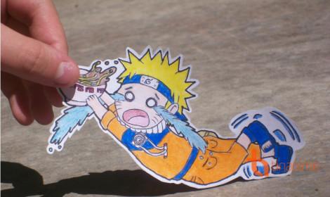 Bộ tranh giấy nghệ thuật Naruto siêu hài!