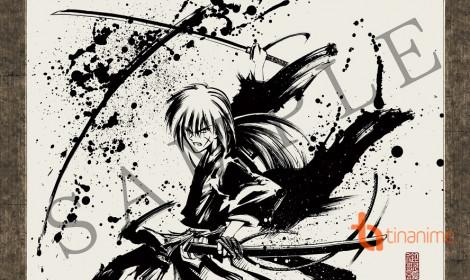 Chân dung Rurouni Kenshin qua nét bút thủy mặc!