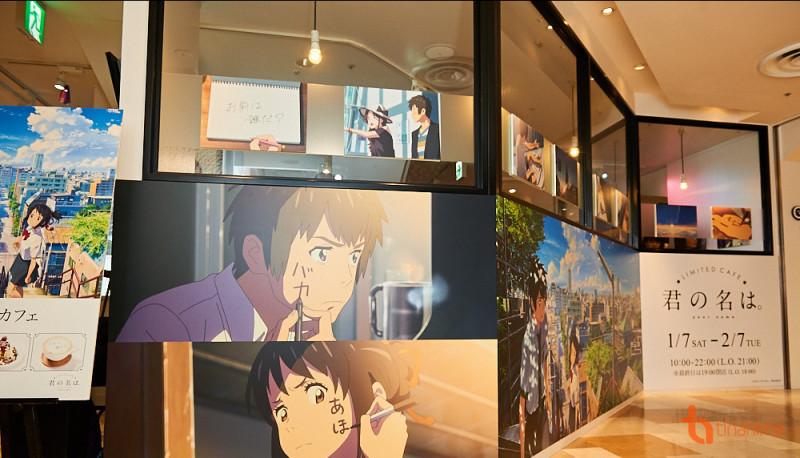 """Tiệm cafe Your Name """"làm mưa làm gió"""" tại Nhật Bản"""