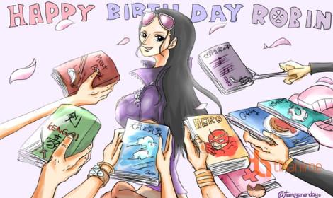 Robin ơi! Sinh nhật vui cùng gia đình Mũ Rơm nha!