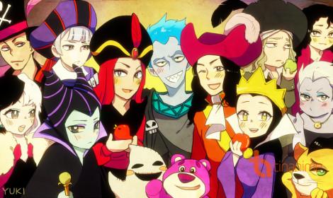 Khi kẻ phản diện trong Disney hóa thân anime?!