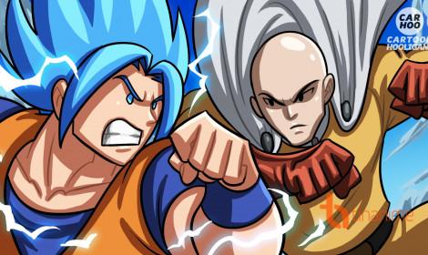 Rớt hàm với Goku vs Saitama