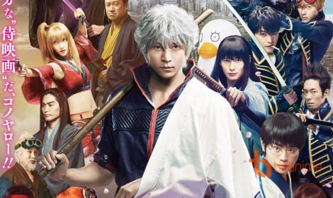 Live-Action Gintama hé lộ dàn diễn viên trong trailer mới