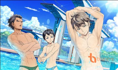 """""""Mất máu"""" với bộ anime bơi lội mới!"""