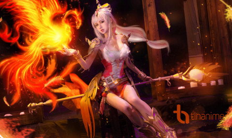 Cosplay nữ thần phượng hoàng lửa!