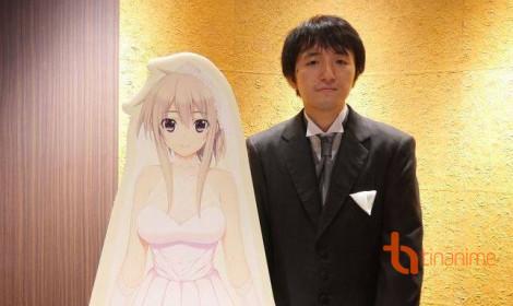 Sốc với đám cưới thực tế ảo cùng nhân vật Anime