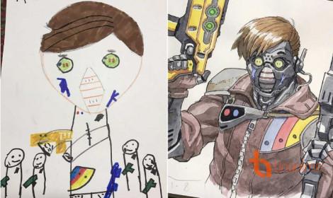 Khi có cha làm họa sĩ, mọi bức tranh của con đều trở thành kiệt tác