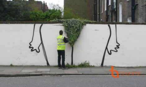 Quá bá đạo với nghệ thuật tranh đường phố!