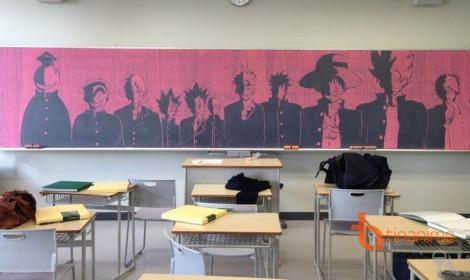 Tuyệt tác trên bảng đen của học sinh Nhật Bản