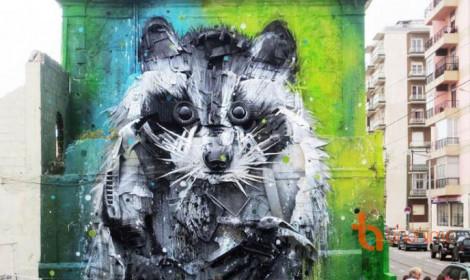 Nghệ thuật đường phố làm từ... rác