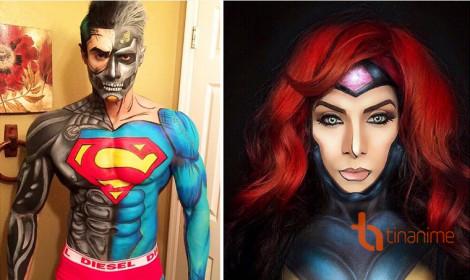"""Anh chàng """"thiên biến vạn hóa"""" với body painting"""