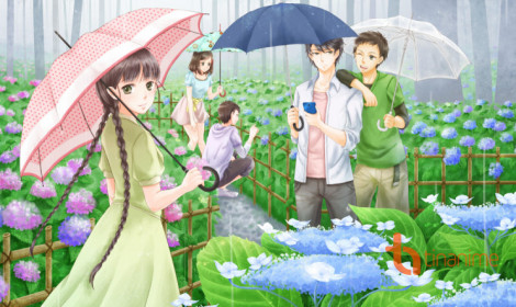 [Fanart] Chuyện tình dưới mưa!