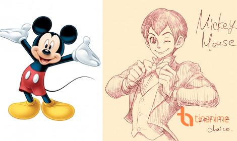Nhân vật Disney hóa thành người phong cách anime cực đẹp!