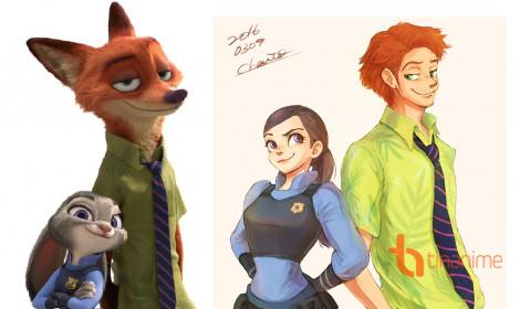 Nhân vật Disney hóa thành người phong cách anime cực đẹp! (Phần 2)