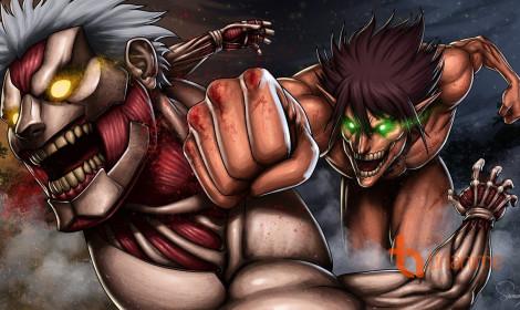Eren và Reiner - Tái diễn trận đấu kinh hoàng