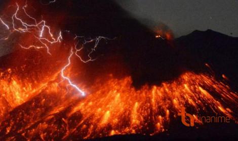 Kinh hoàng núi lửa ở Nhật Bản!