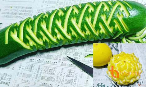 Nghệ thuật điêu khắc trái cây, rau củ vô cùng ảo diệu