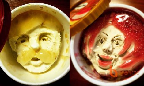 Nghịch với kem!