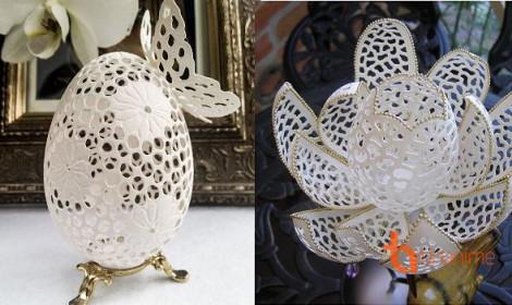 Điêu khắc vỏ trứng cực ảo diệu