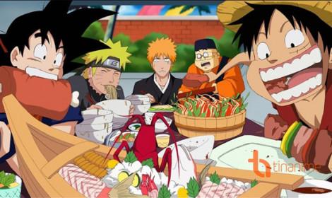 Top 6 nhân vật phàm ăn tục uống nhất thế giới anime