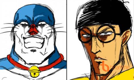 """""""Sa mạc lời"""" với Doraemon nhiều phiên bản cực độc!"""