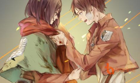 [Artwork] Eren và Mikasa!