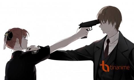 Hậu quả của Kagura khi dám chĩa súng vào Sougo!