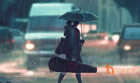 [Artwork] Bóng hình cô độc dưới mưa