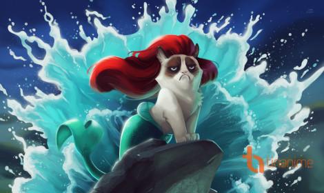 """Mèo cau có """"làm loạn"""" thế giới Disney"""