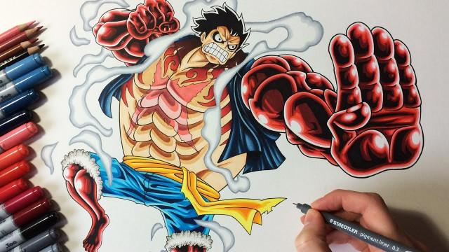 Drawing Monkey D. Luffy - Gear 4