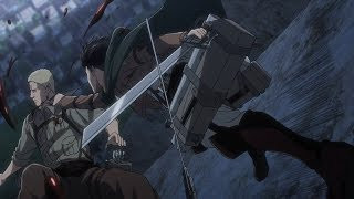Levi vs Reiner Attack on Titan Season 3 Part 2 episode 1 - AMV