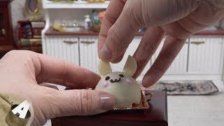 MiniFood 食べれるミニチュア うさぎのケーキ miniature rabbit shaped cake