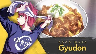 How to make Gyudon by Yukihira Soma | Food Wars! - Shokugeki no Soma
