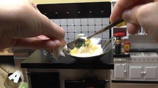 MiniFood 食べれるミニチュア 卵チャーハン miniature Egg Fried Rice
