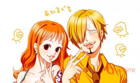 Chùm ảnh vui One Piece: Khi Nami và Sanji hẹn hò!