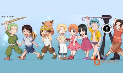 Các nhân vật One Piece thời trẻ trâu!