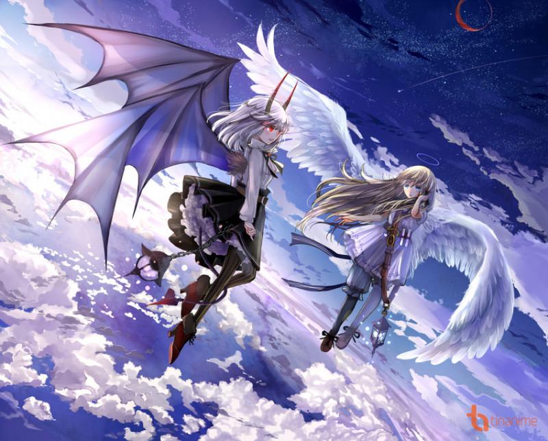 Mời các bạn cùng chiêm ngưỡng bộ tranh thiên thần vs ác quỷ cực đẹp này nhé!