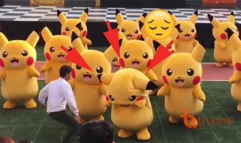 """Điệu nhảy Pikachu gặp sự cố """"đắng lòng"""""""