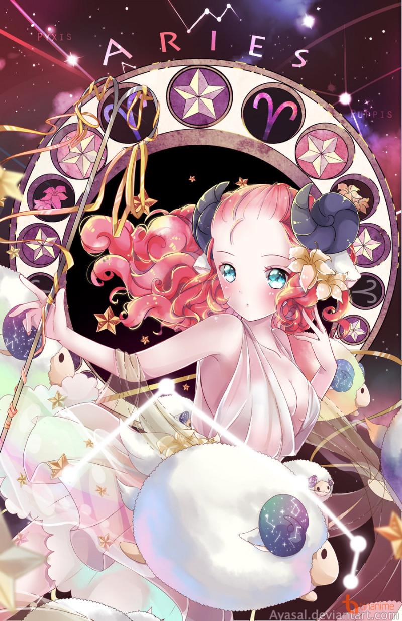 M�i các bạn cùng chiêm ngưỡng bộ ảnh Cung Hoàng �ạo theo phong cách anime  cực đẹp của h�a sĩ Ayasal nhé!