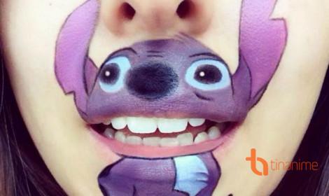Biến tấu đôi môi thành nhân vật hoạt hình