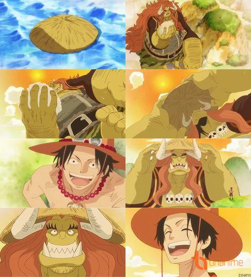 Và rồi tận sau khi Ace chết, các thành viên của đội Râu Trắng, một mực gọi  Luffy là em trai Ace, cùng nhau bảo vệ em trai Ace.