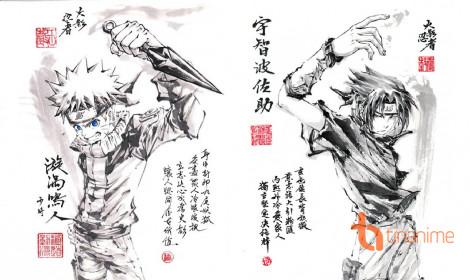 Fanart Naruto vẽ bằng mực Tàu cực chất